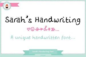 Sarah's Handwriting Font