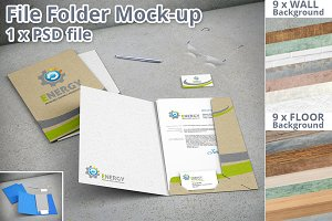 Stationery File Folder Mockup