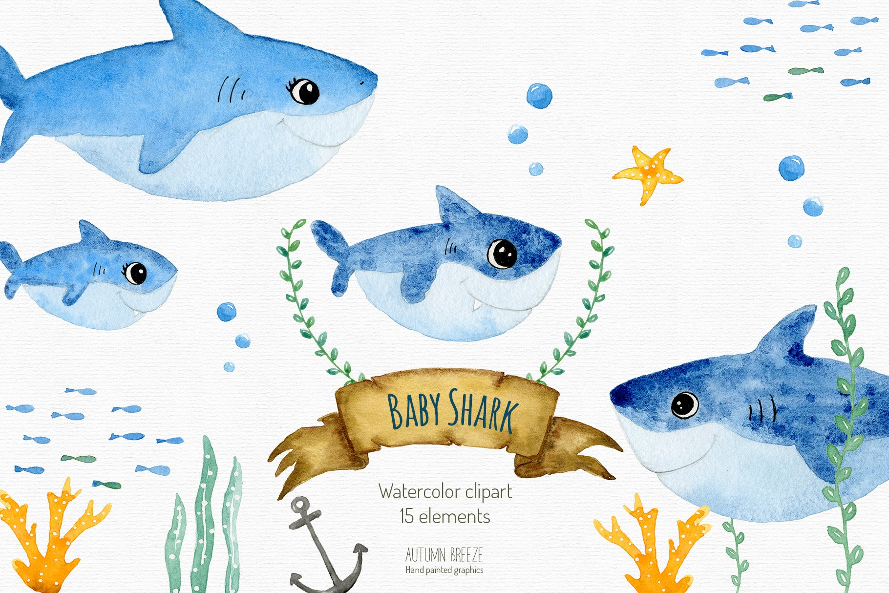 Baby Shark Clipart Pre Designed Photoshop Graphics Creative Market Baby shark png you can download 41 free baby shark png images. baby shark clipart