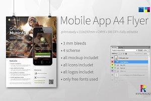 Mobile App A4 Flyer v3