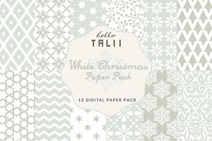 SALE! White Christmas Paper Pack