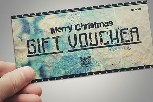 Vintage CHRISTMAS gift voucher