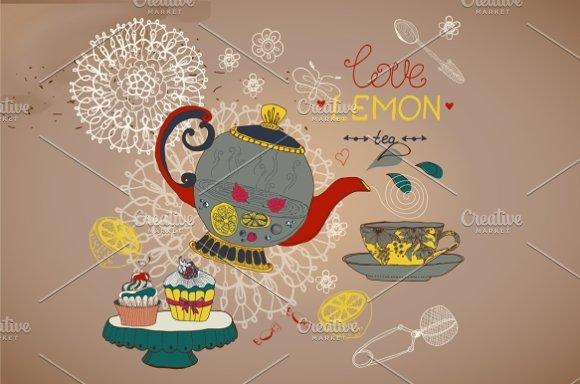 Lemon tea card