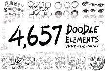 4657 Hand Drawn doodle elements