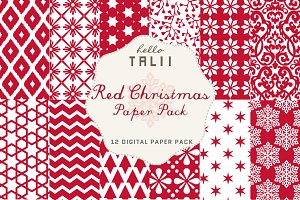 SALE! Red Christmas Paper Pack