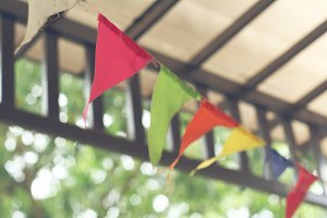 Colorful bunting flags