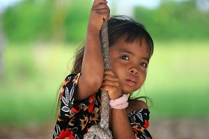 Girl from Sibuan island,Borneo