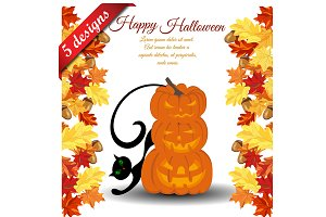 5 Halloween Greeting Card