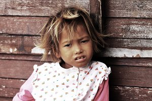 Little Girl from Mabul island,Borneo