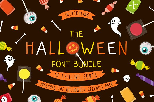 Halloween Font Bundle+FREE Graphics
