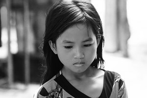 Girl from Mabul island,Borneo
