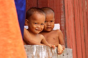 Little boys from Mabul island,Borneo