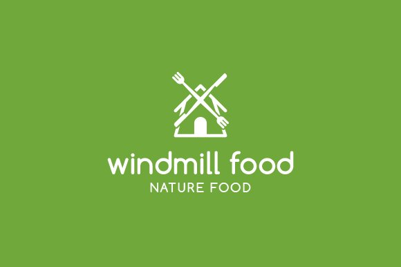 Windmill Food Logo Templates Creative Market