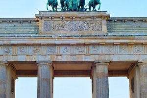Famous Brandenburg gate, Berlin