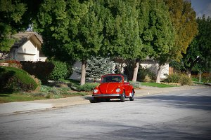 Red VW Bug (Photo)