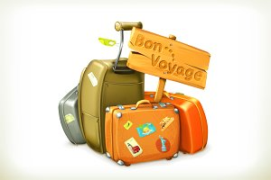 Bon voyage travel icon