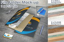 Stationery File Folder Mockup