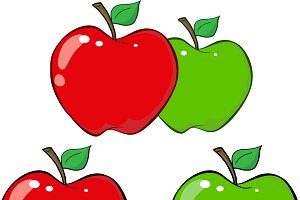 Red and Green Apple Collection - 1