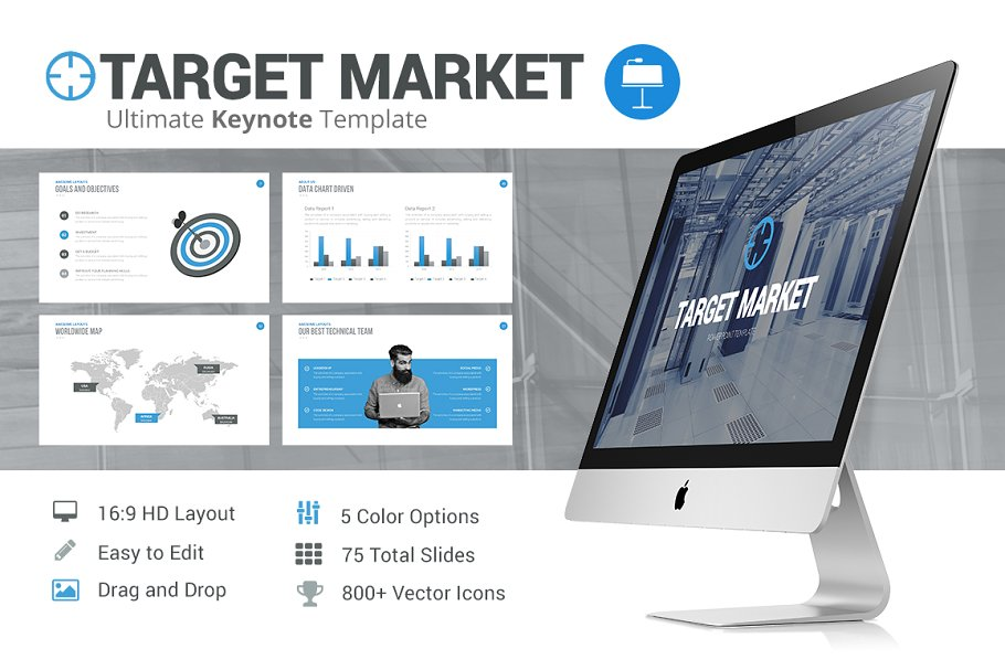 Target Market - Keynote Template in Presentation Templates - product preview 4