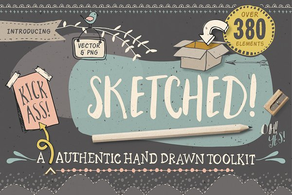 Sketched! Hand drawn graphic toolki…