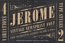 Jerome Vintage Typeface
