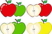 Red and Green Apple Collection - 2