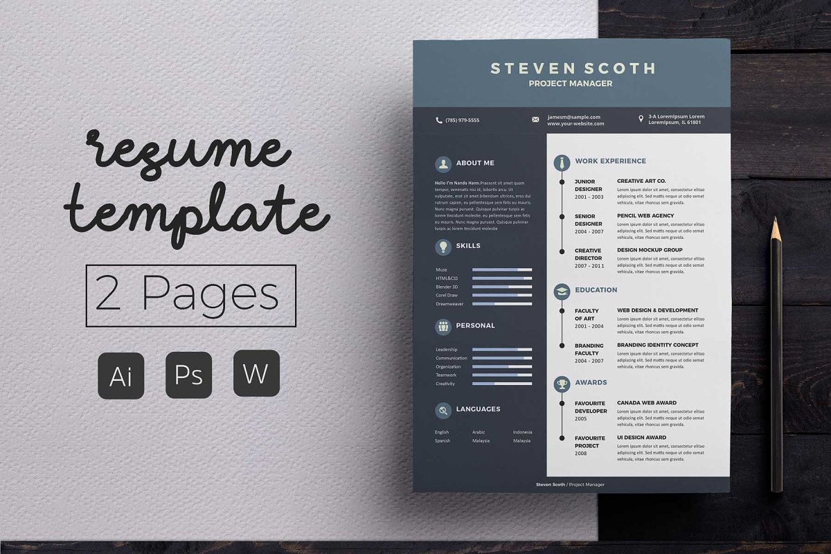 Simple Resume & CoverLetter Template