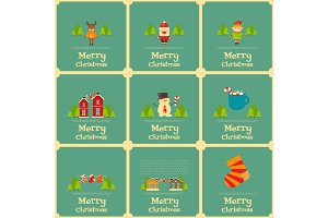 Set of Mini Christmas Cards