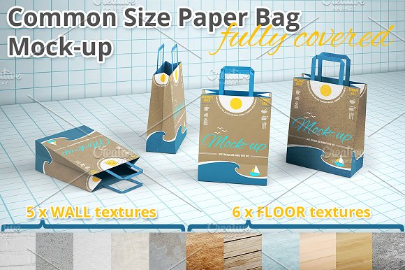 Download Shopping Paper Bag Mockup