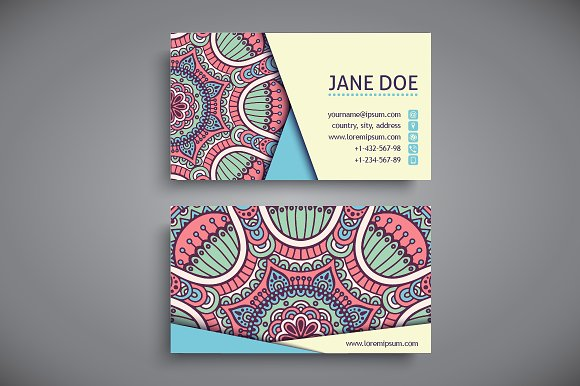 How to design impressive business cards using templates creative business cards in ethnic style reheart Image collections