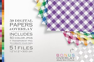 Digital Papers Gingham + DIY Overlay