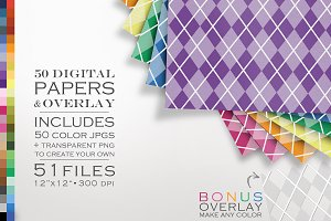51 Piece Argyle Digital Paper