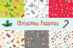 Hand drawn Xmas patterns
