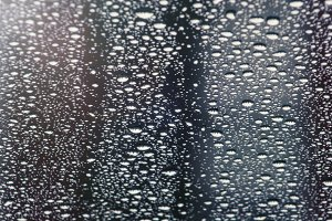 Water Droplets on Glass (Photo)