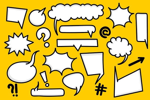 Comic Book Text Speech Bubble Pre Designed Photoshop Graphics Creative Market