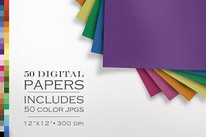 50 Piece Laid Paper Texture Pack