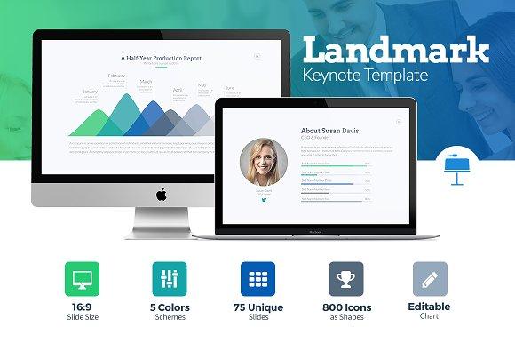 50 brilliant keynote templates to present like a pro creative landmark keynote template pronofoot35fo Gallery