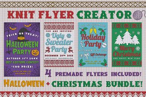 Christmas Knit Sweater Flyer Effect
