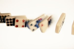 Line of Falling Dominoes 2 (Photo)
