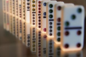 Line of Falling Dominoes 3 (Photo)