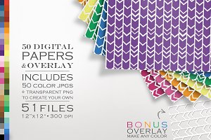 51 Chevron Arrows Digital Papers