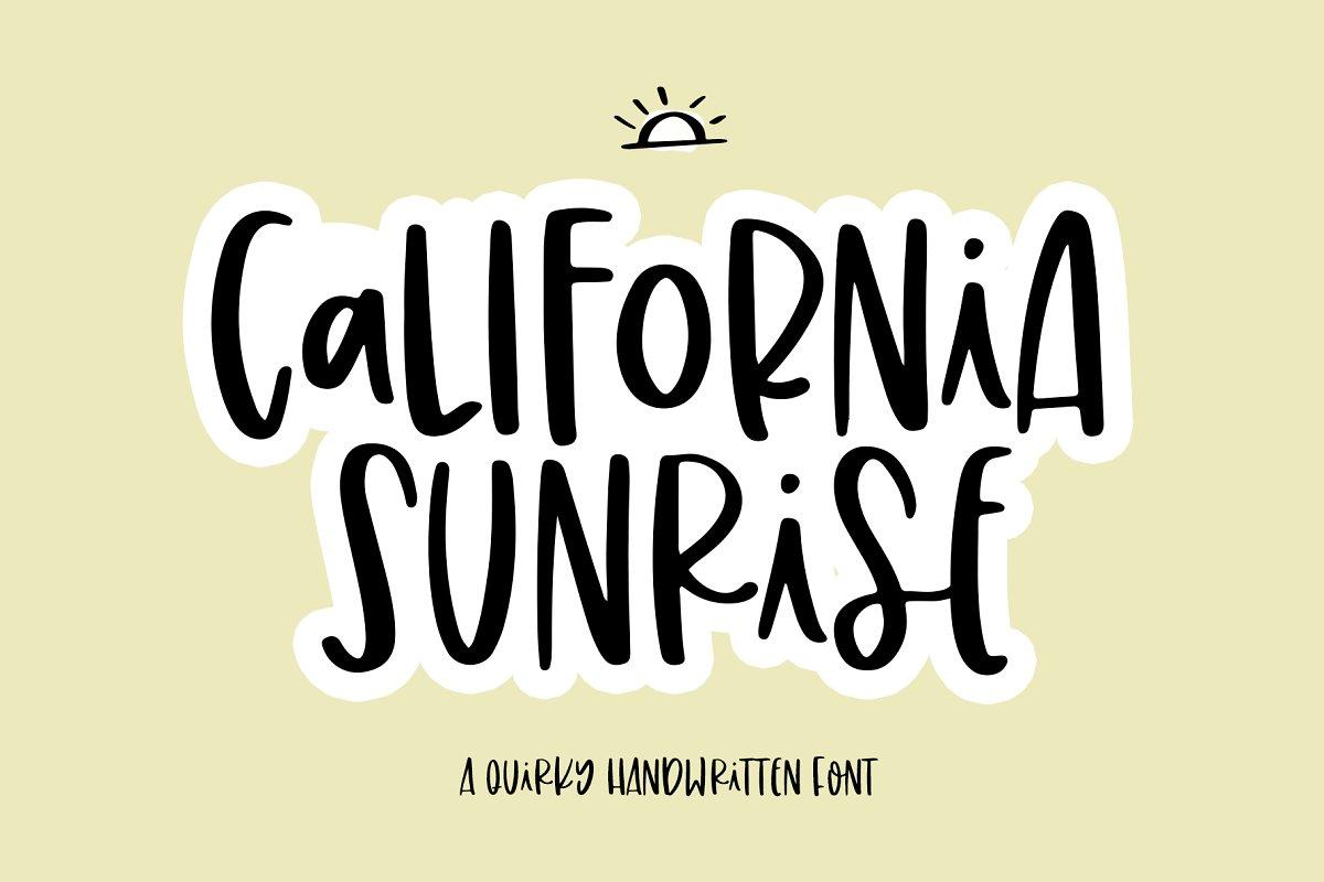 California Sunrise Font
