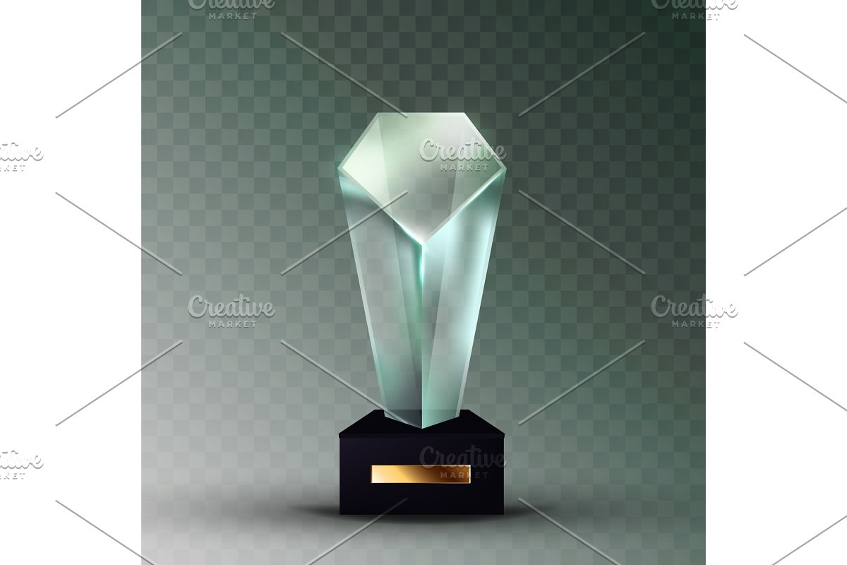 Blank Glass Trophy Prize In Crystal
