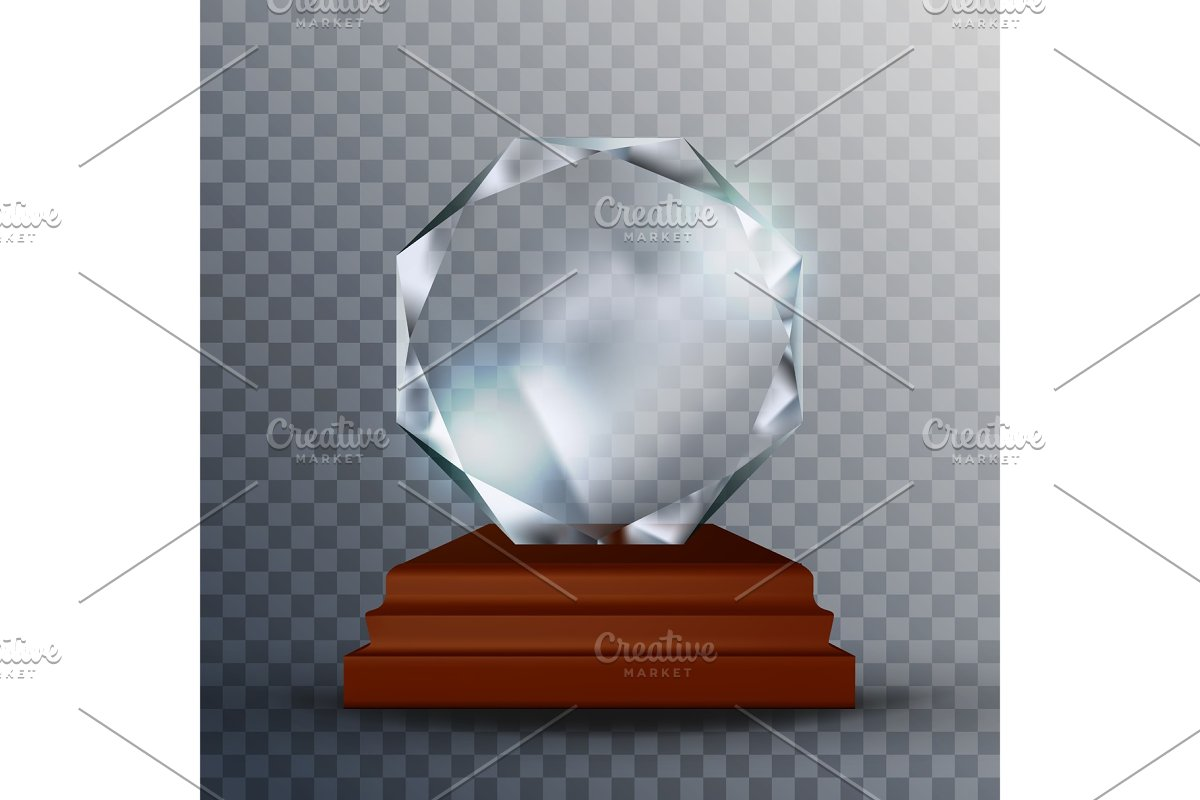 Modern Reflection Blank Glass Trophy