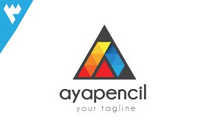 Aya Pencil - Letter A Logo