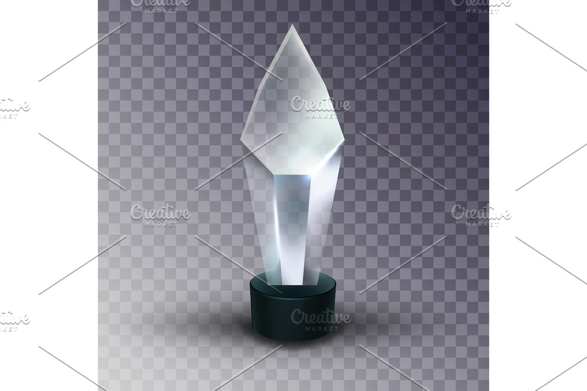 Blank Glass Trophy Award In Crystal