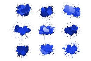 Blue ink blobs