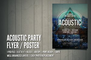 Acoustic Party Flyer / Poster