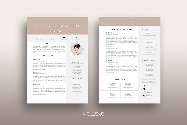Resume Cv Template Amelia Creative Resume Templates