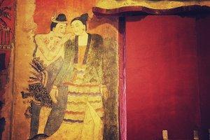 Mural Painting at Wat Phumin